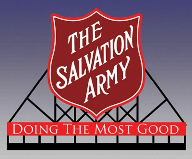N Scale - Miller Engineering - 6282 - Structure, Billboard - Painted/Lettered - The Salvation Army