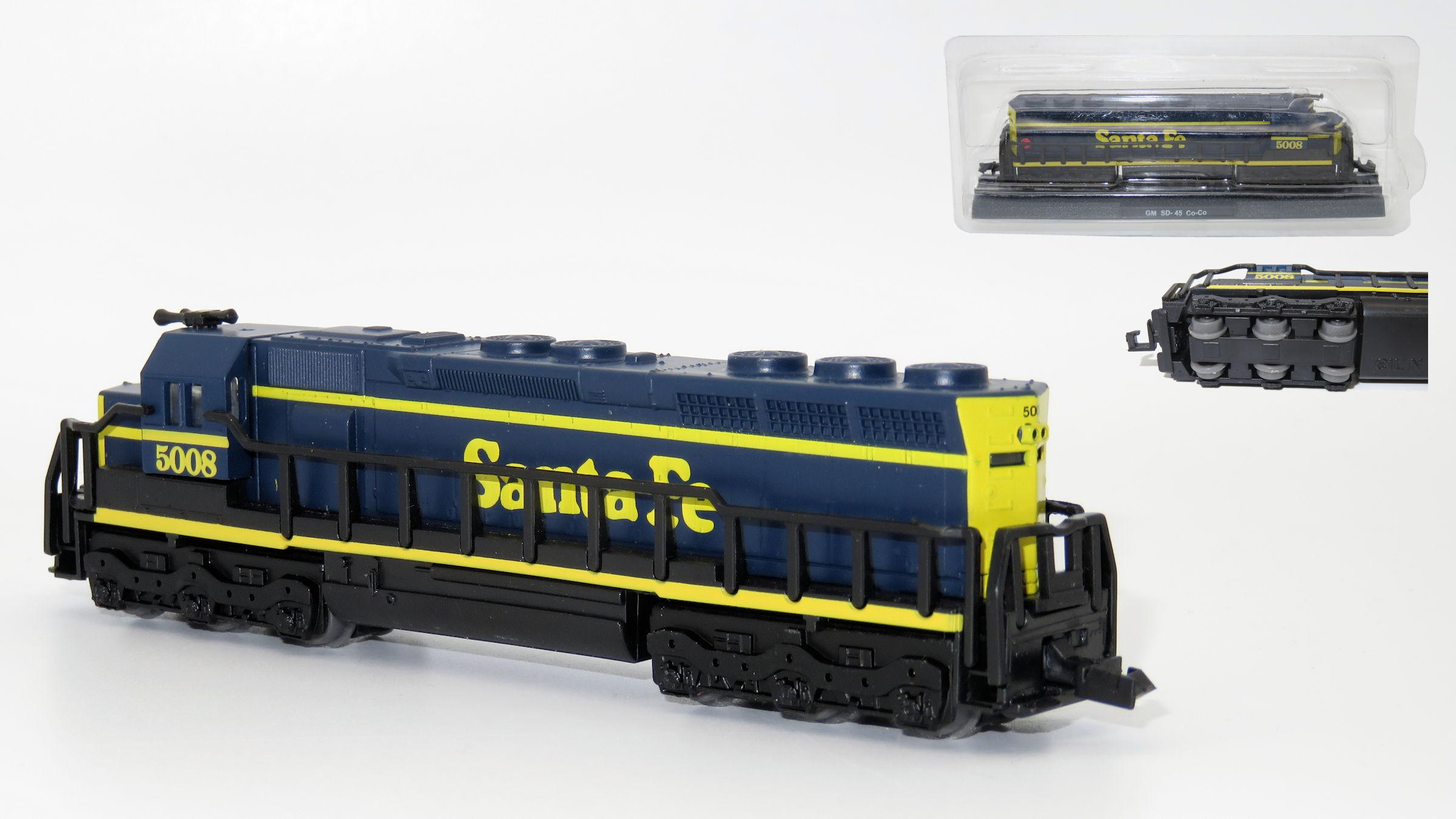 N Scale - Club Internacional del Libro (CIL) - 6 - Locomotive, Diesel, EMD SD45 - Santa Fe - 5008