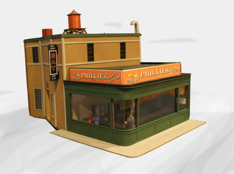 N Scale - Wit and Wisdom Models - N-C-3 - Structure, Building, Commercial, Cafe, Diner - Commercial Structures