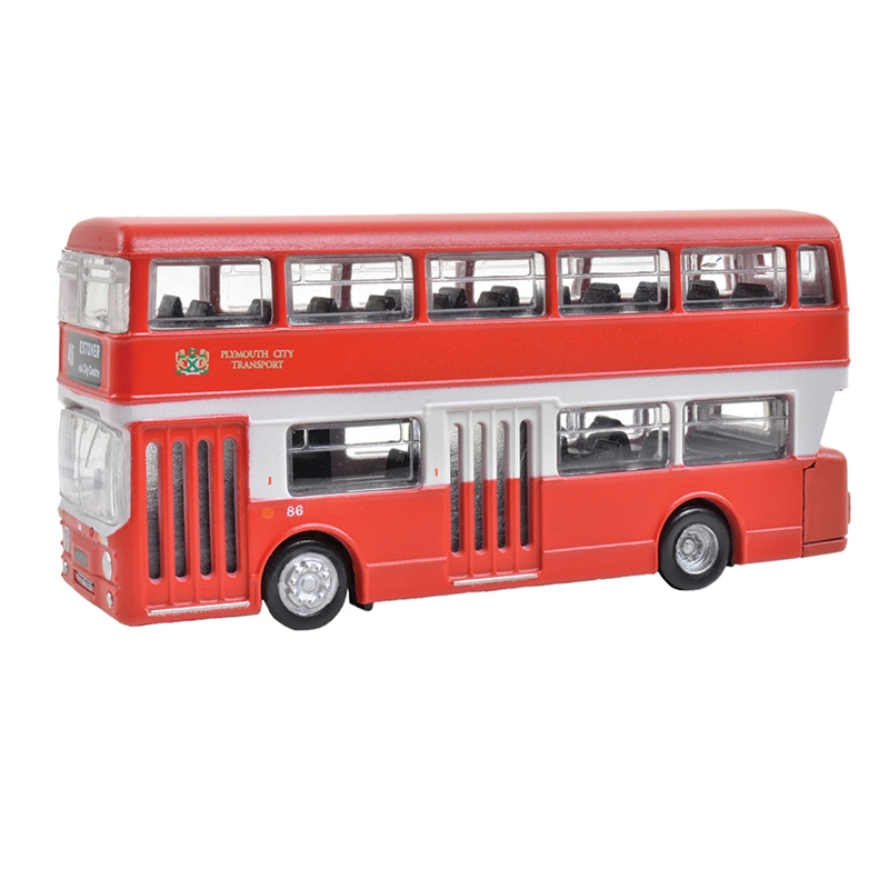 N Scale - Graham Farish - 379-607 - Vehicle, Bus, Leyland Atlantean, Double Decker - Painted/Lettered - Plymouth City Transport