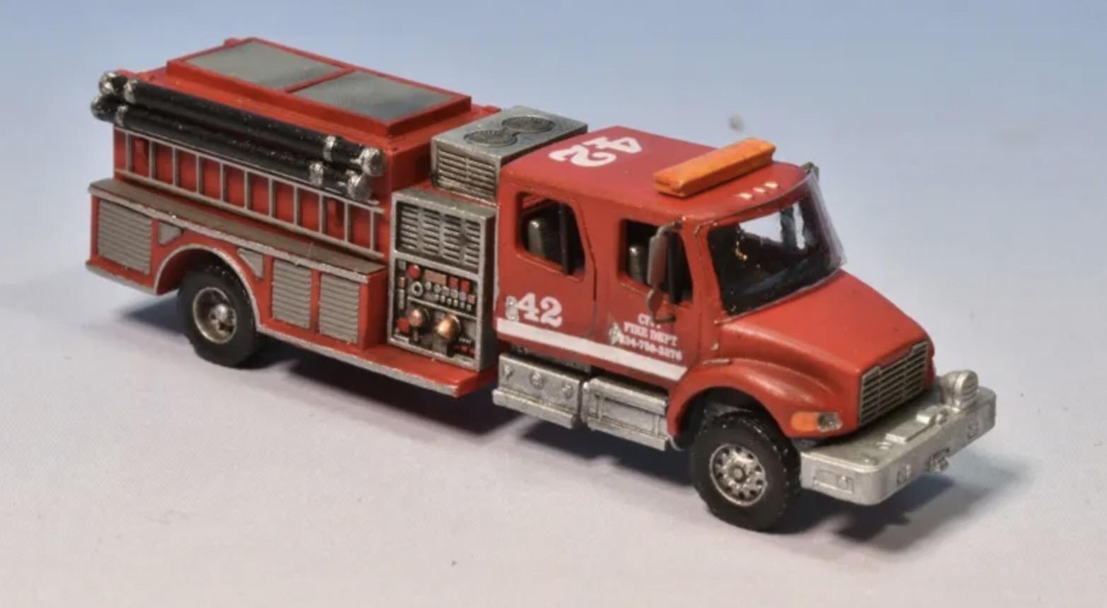 N Scale - Showcase Miniatures - 140 - Vehicle, Truck, Fire Engine, F-M2 Pumper - Fire and Rescue