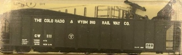 N Scale - Precision Masters - 130XX - Open Hopper, 5-Bay Ortner Rapid Discharge - Colorado & Wyoming - 111