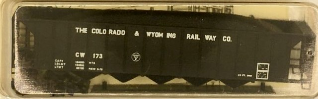N Scale - Precision Masters - 130XX - Open Hopper, 5-Bay Ortner Rapid Discharge - Colorado & Wyoming - 173