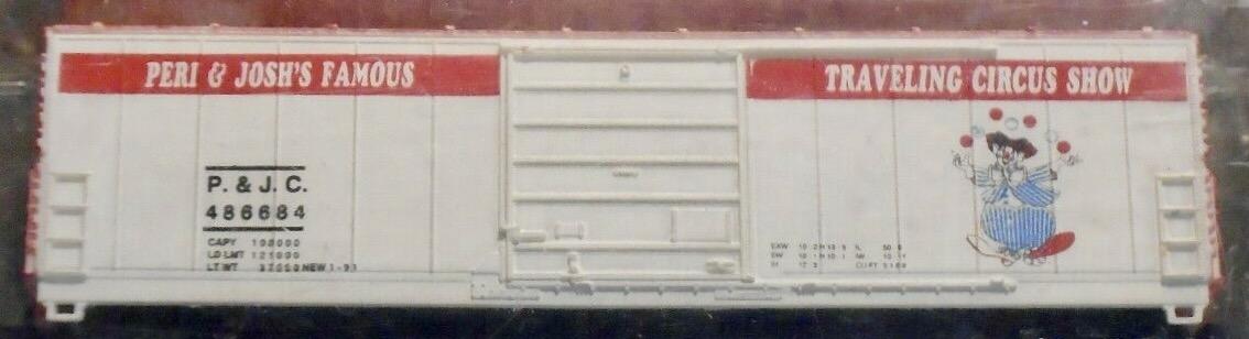 N Scale - Bev-Bel - 2190 - Boxcar, 50 Foot, Evans 5277 - Circus - 486684