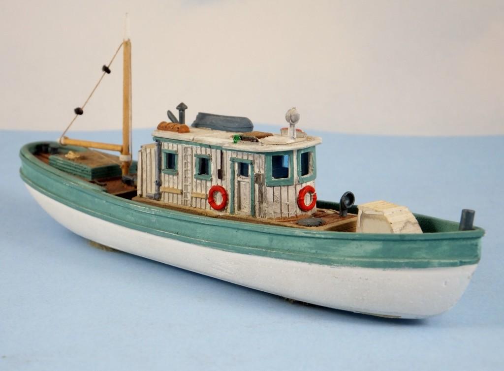 N Scale - Sea Port Model Works - H117-N - Boat, Harbor Work - Undecorated