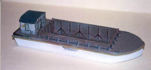 N Scale - Sea Port Model Works - H113-1-N - Boat, Barge - Undecorated