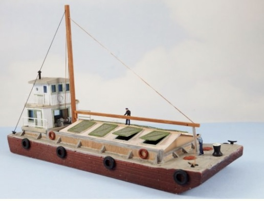 N Scale - Sea Port Model Works - H121-N - Boat, Barge - Undecorated