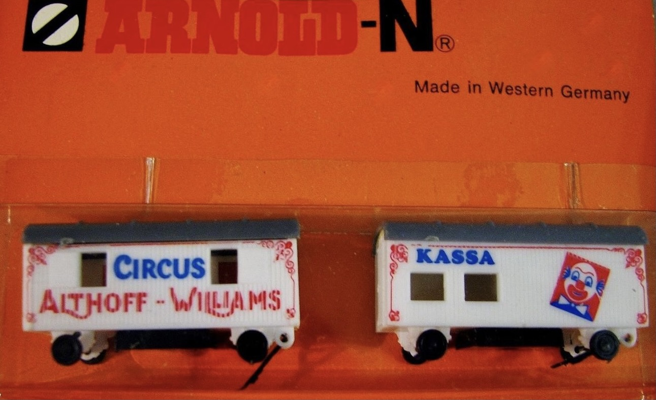 N Scale - Arnold - 6611 - Vehicle, Wagon,Circus - Circus - 2-Pack
