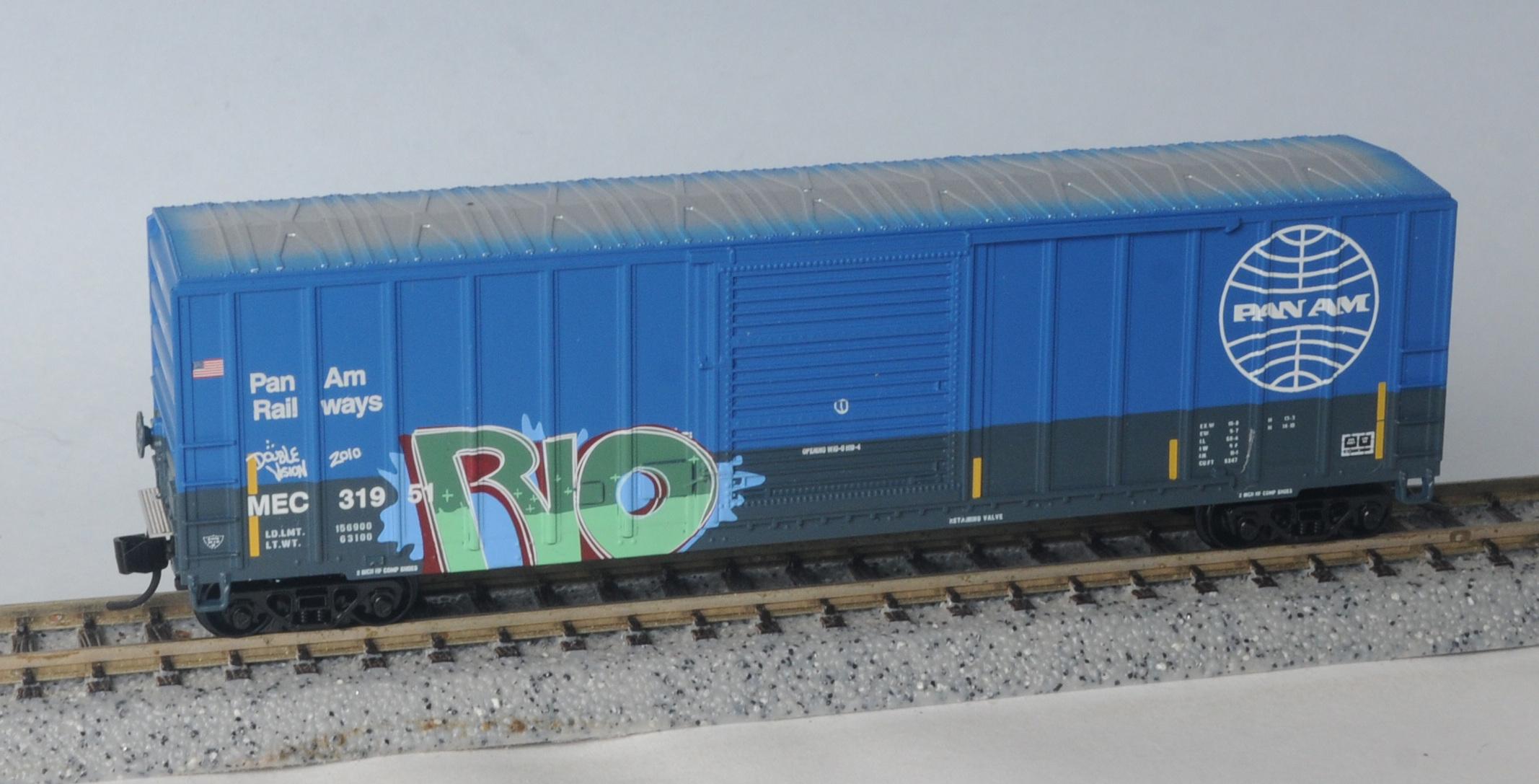 N Scale - Fox Valley - 8921 - Boxcar, 50 Foot, FMC, 5347 - Pan Am Railways - 31951