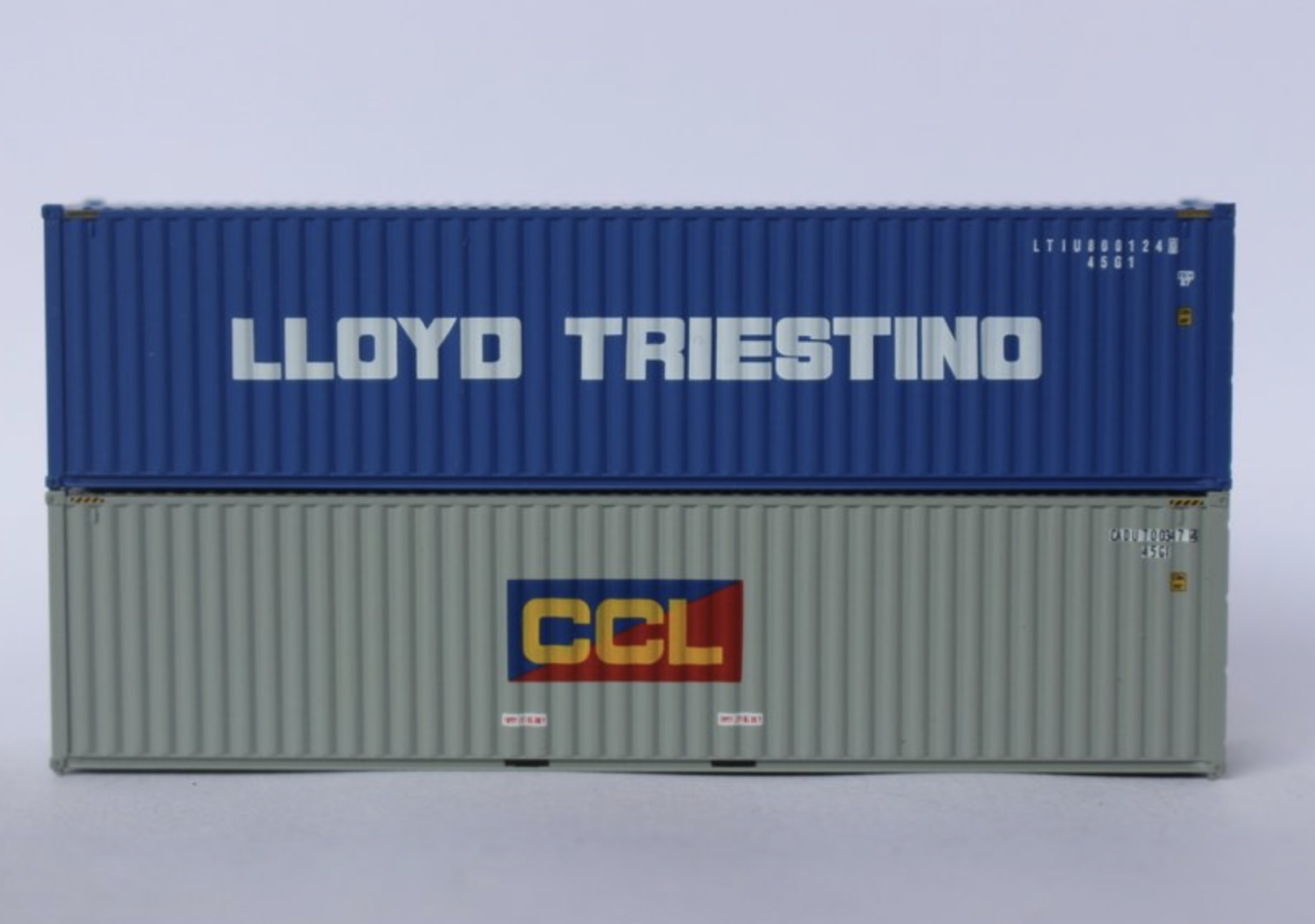 N Scale - Jacksonville Terminal - 405808 - Container, 40 Foot, Hi-Cube - Various - 2-Pack