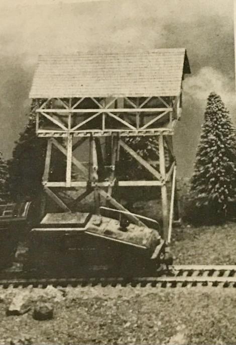 N Scale - Muir Models - 541 - Structure, Industrial, Logging Tower - Industrial Structures - Logging Water Tower