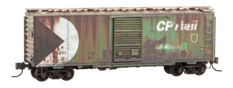 N Scale - Micro-Trains - NSE MTL 20-38A - Boxcar, 40 Foot, PS-1 - Canadian Pacific - 58552 & 401710