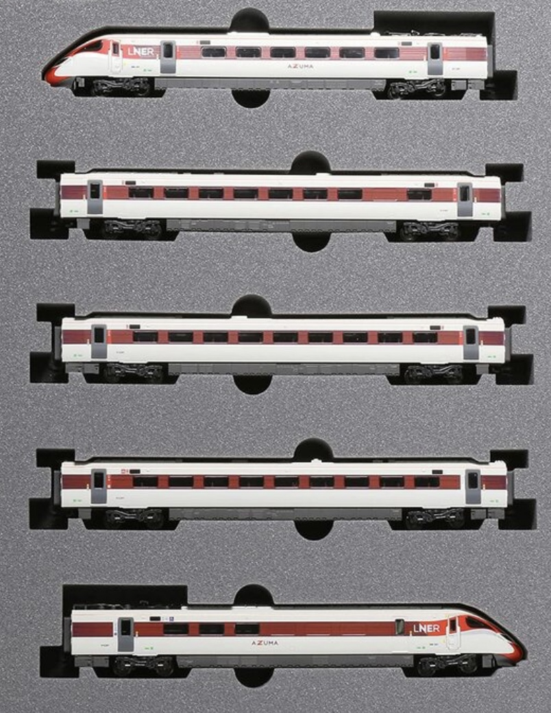 N Scale - Kato - 10-1674 - Passenger Train, Electric, Hitachi Class 800/2 - London and North Eastern - 5-Pack