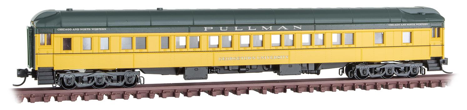 N Scale - Micro-Trains - 142 00 430 - Passenger Car, Heavyweight, Pullman - Chicago & North Western - Georgetown University