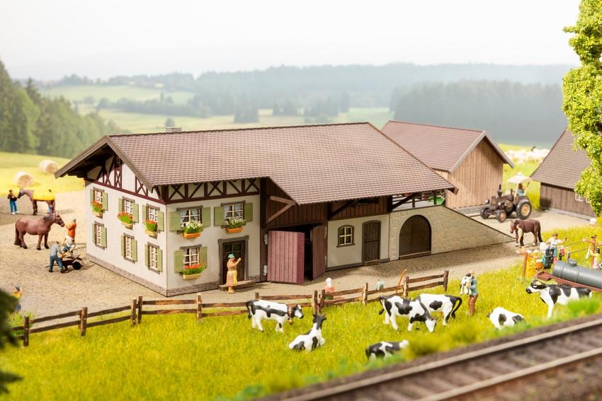 N Scale - Noch - 63714 - Scenery, Structure, Farm - Scenery - Farm