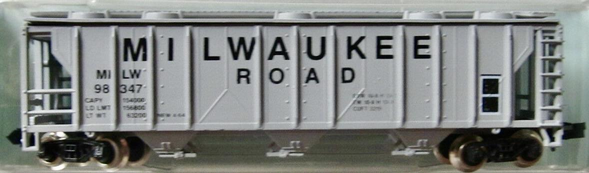 N Scale - JnJ - 9208-2 - Covered Hopper, 3-Bay, PS2 2893 - Milwaukee Road - 98347