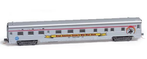 N Scale - RailSmith - NSE MTL 08-71 - Passenger, Lightweight, Sleeper - Great American Circus - Portland