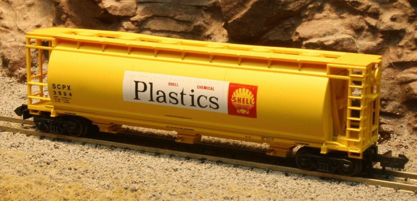 N Scale - Delaware Valley - 3063 - Covered Hopper, 3-Bay, Cylindrical - Shell Oil - 3524