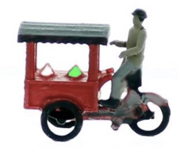 N Scale - Model Tech Studios - JN1000000 - Figures, Workers, Ice Cream Man - People