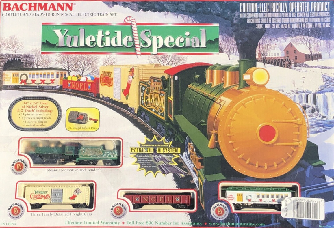 N Scale - Bachmann - 24011 - Passenger Train, Steam, North American, Old Time - Merry Christmas - Yuletide Special