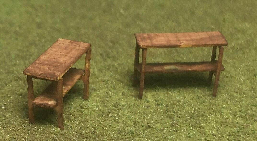 N Scale - Motrak Models - 17003 - Details, Industrial, Commercial, Work Bench - Undecorated - Work Benches