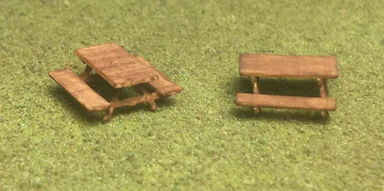 N Scale - Motrak Models - 17004 - Details, Recreational, Picnic Table - Undecorated - Picnic Tables