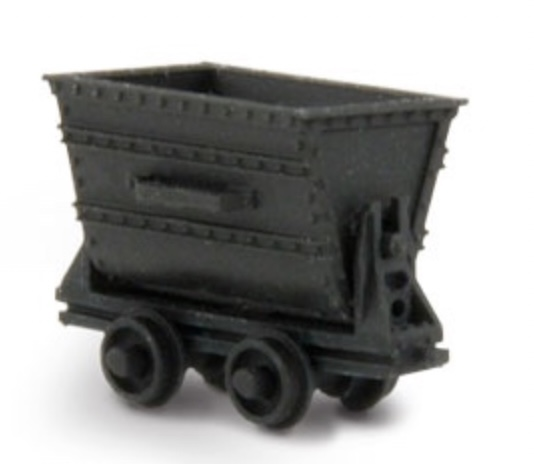 N Scale - Wild West Scale Model Builders - DP2 - Accessories, Mining, Ore Car - Undecorated - 3-Pack