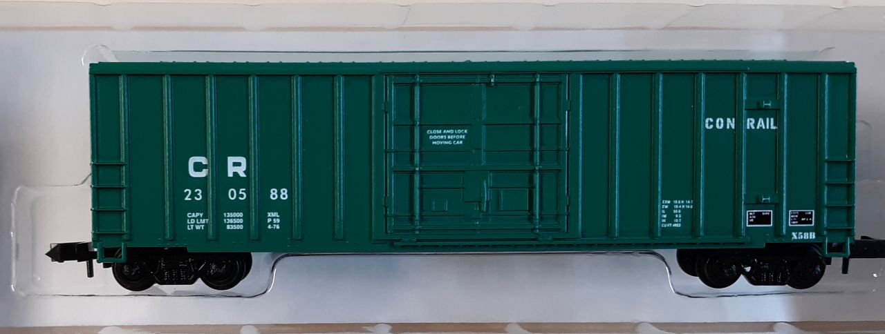 N Scale - Roundhouse - 83614 - Boxcar, 50 Foot, FMC, 5077 - Conrail - 230588