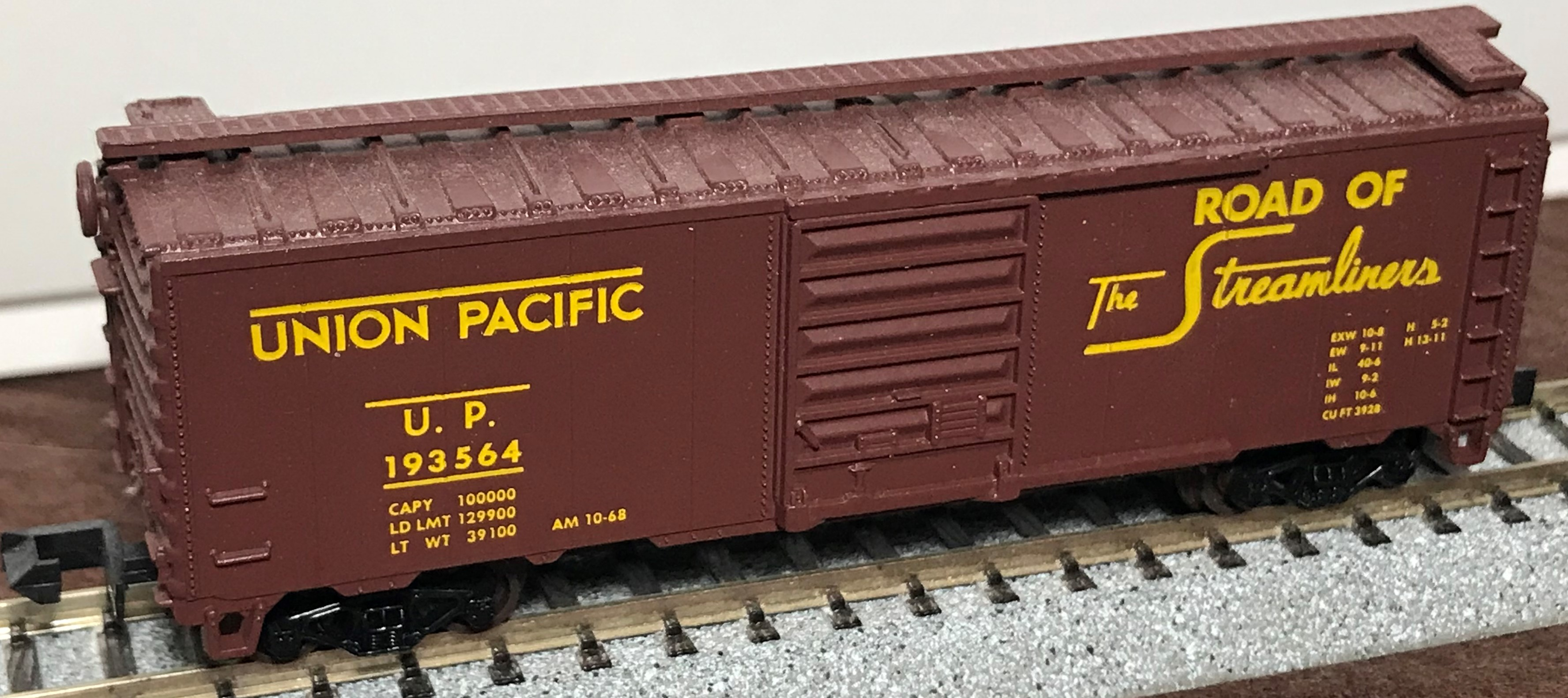 N Scale - Atlas - 3420 - Boxcar, 40 Foot, PS-1 - Union Pacific - 193564