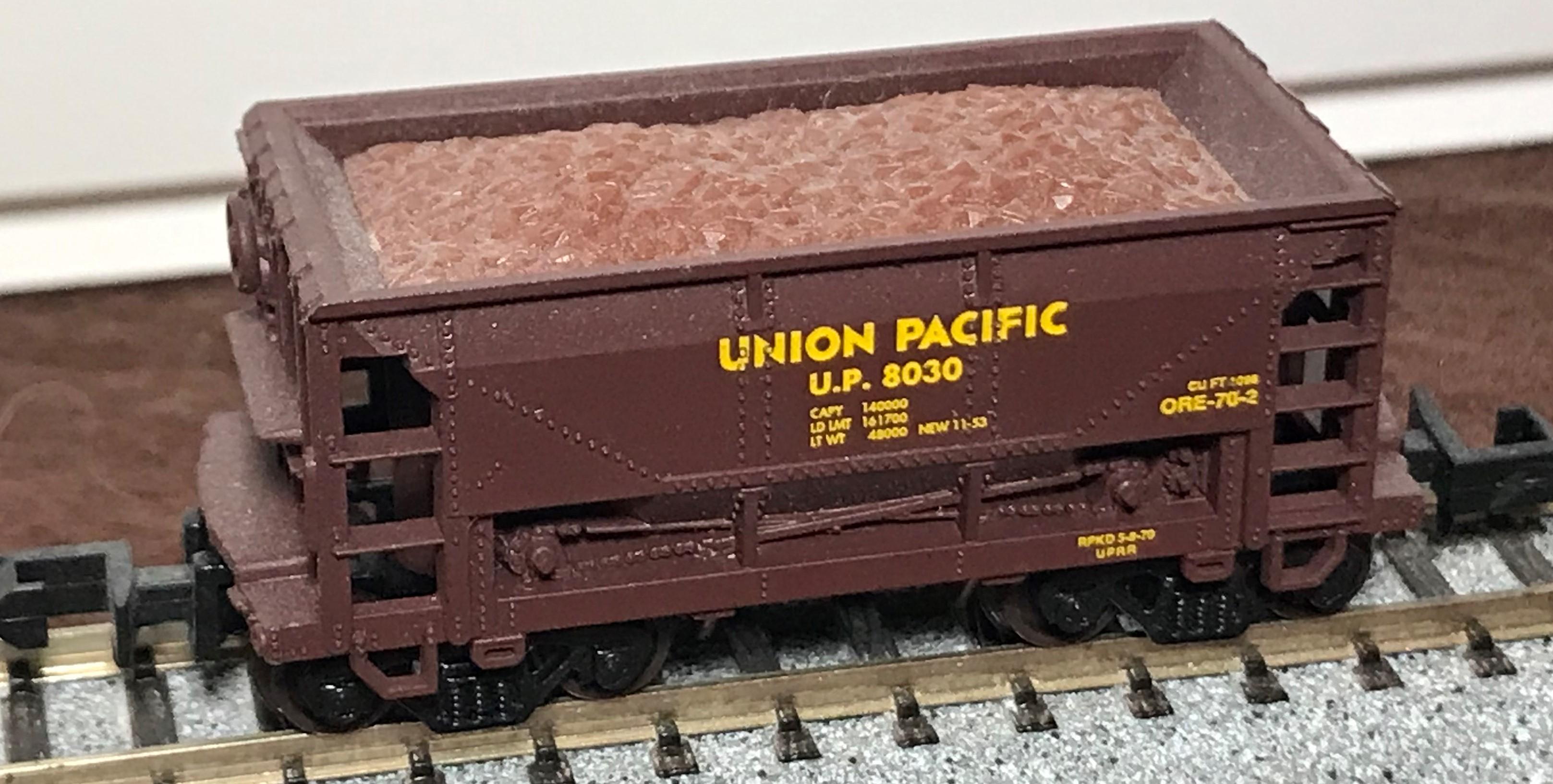 N Scale - Atlas - 32131 - Open Hopper, Ore Car, 70 Ton - Union Pacific - 8030