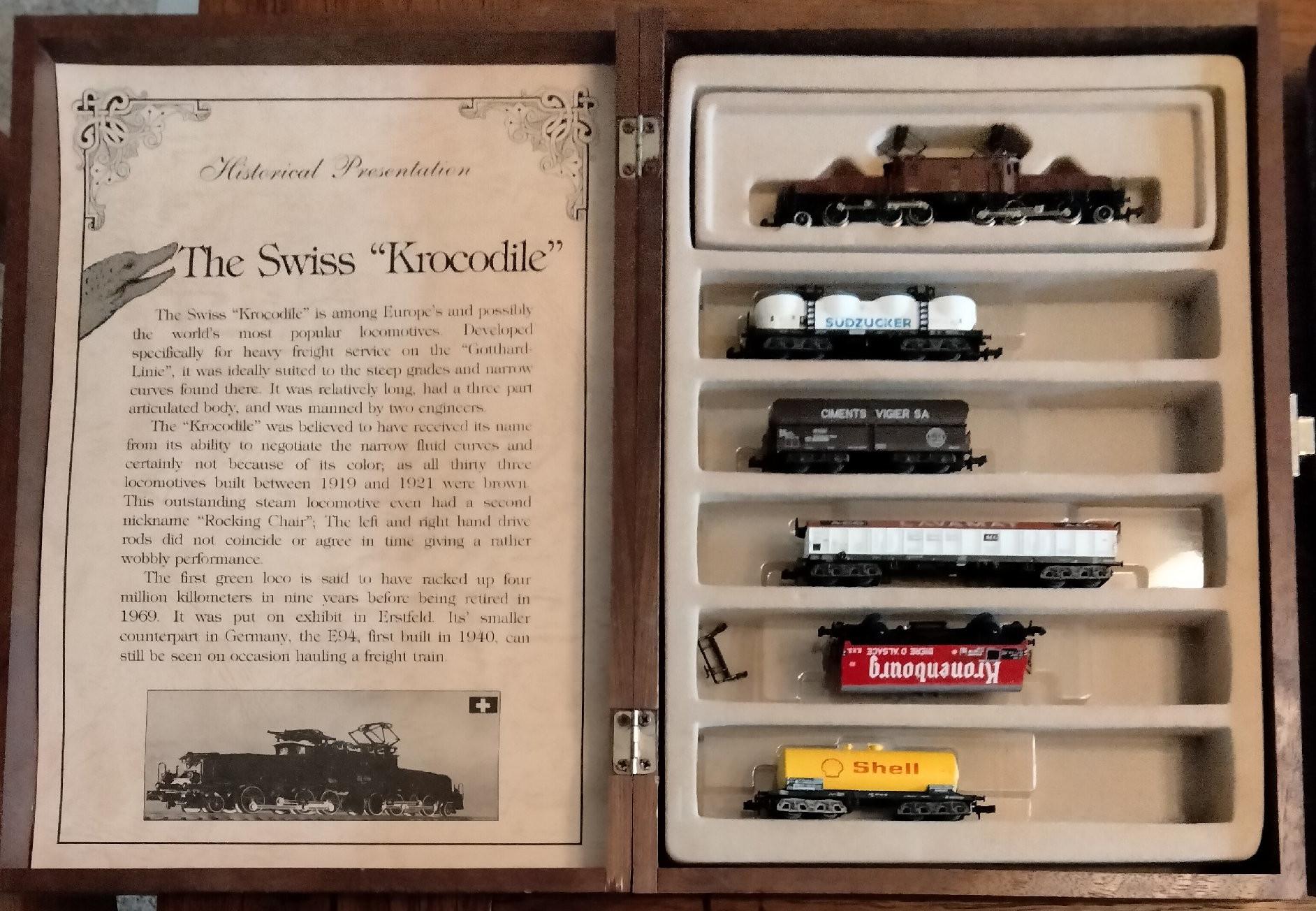 N Scale - Model Power - Krocodile - Freight Train, European, Electric, Epoch II - SBB CFF FFS - Freight Set, 6 Unit