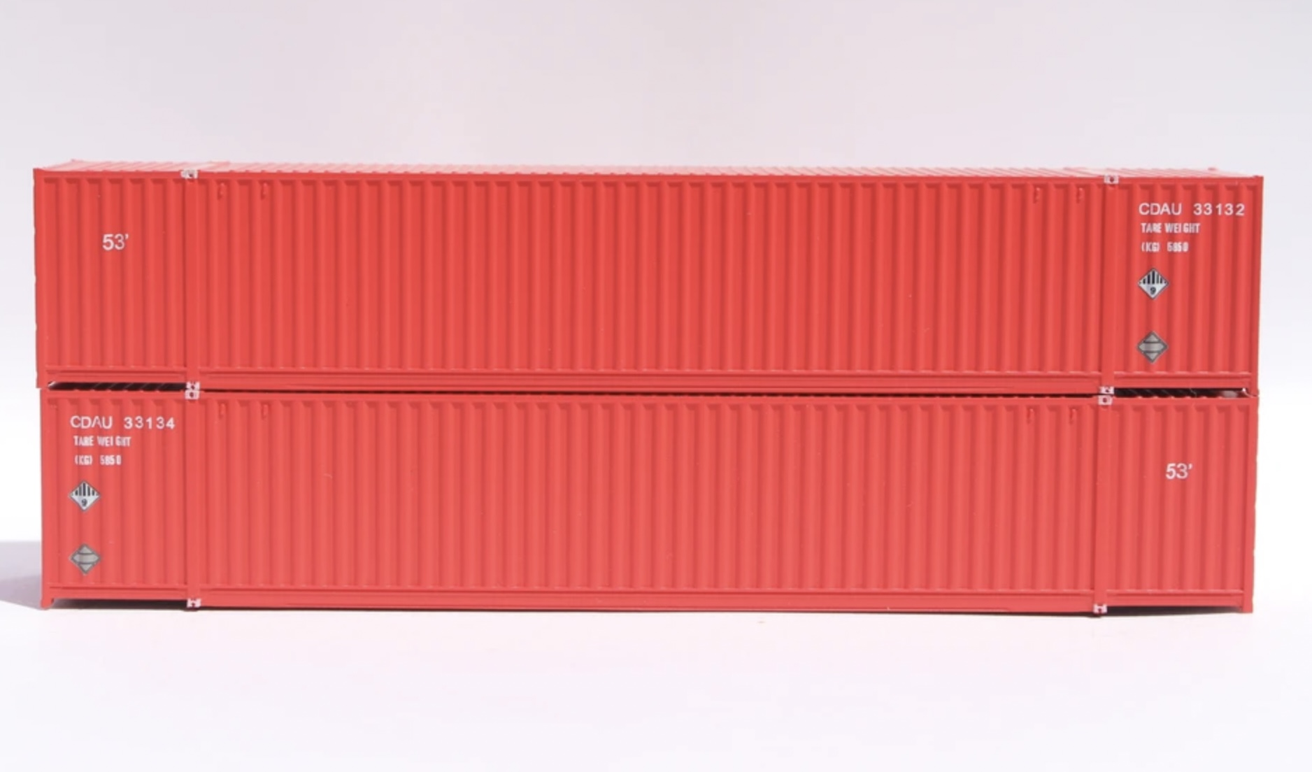 N Scale - Jacksonville Terminal - 535049 - Container, 53 Foot, Corrugated - Canadian Tire - 2-Pack