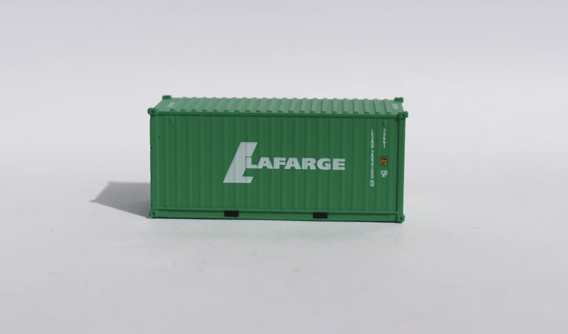 N Scale - Jacksonville Terminal - 205437 - Container, 20 Foot, Corrugated, Dry - Lafarge - 203700