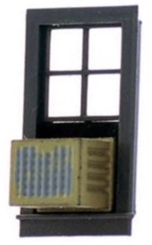 N Scale - Model Tech Studios - D1225P - Scenery, Building Detail, Air Conditioner - Painted/Unlettered