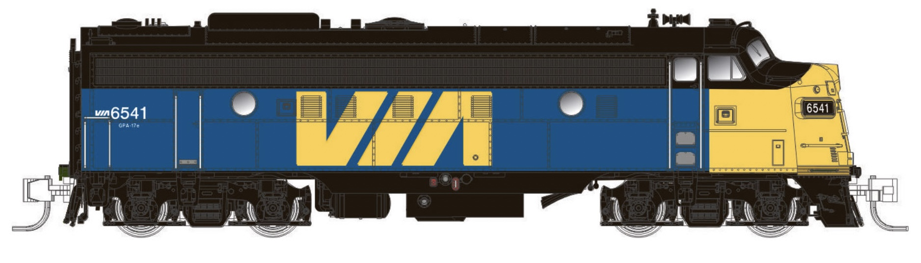N Scale - Rapido Trains - 530535 - Locomotive, Diesel, EMD FP9 - Via Rail Canada - 1405