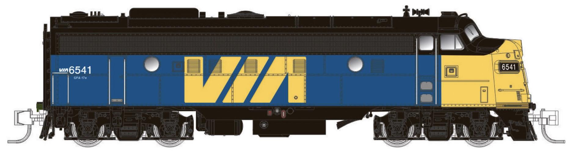 N Scale - Rapido Trains - 530537 - Locomotive, Diesel, EMD FP9 - Via Rail Canada - 6557