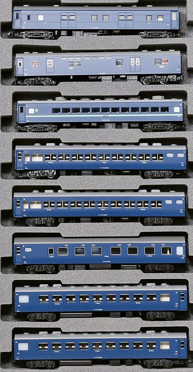 N Scale - Kato - 10-1670 - Passenger Train, Sleeper Express - Japanese National Railways - 8-Pack