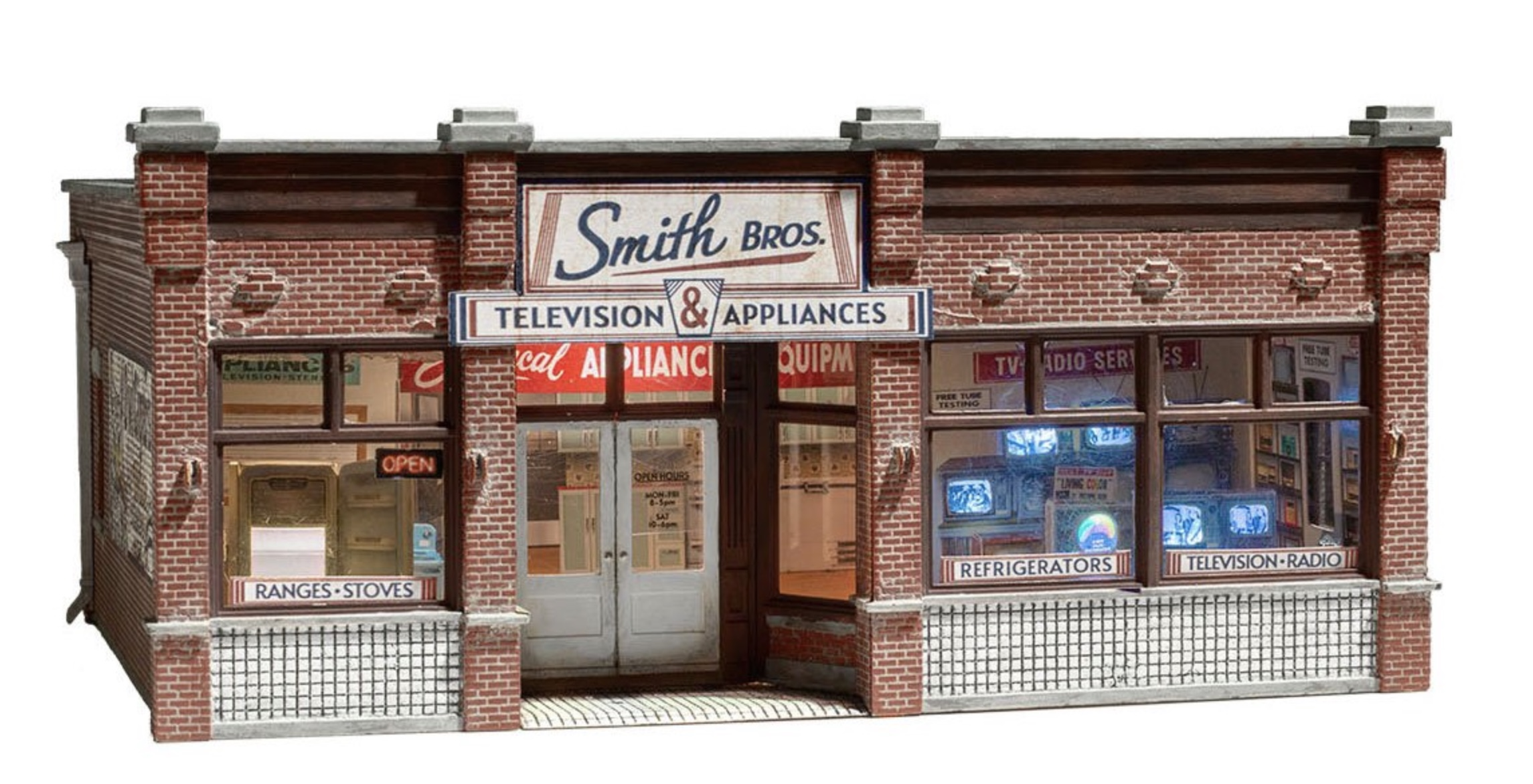N Scale - Woodland Scenics - BR4959 - Structure, Building, Commercial,TV & Appliances, Store - Commercial Structures - Smith Brothers TV & Appliance