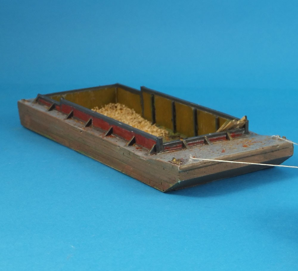 N Scale - Sea Port Model Works - M44 - Boat, Barge - Undecorated