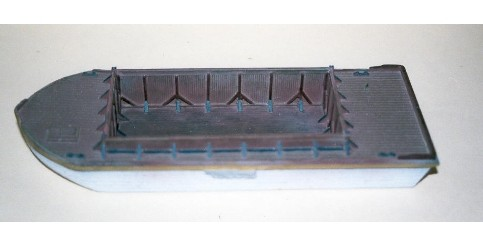 N Scale - Sea Port Model Works - M47 - Boat, Barge - Undecorated