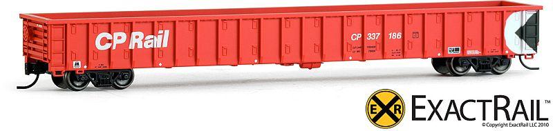 N Scale - ExactRail - EN-51501-6 - Gondola, Hawker-Siddeley, 65-Foot - Canadian Pacific - 337208