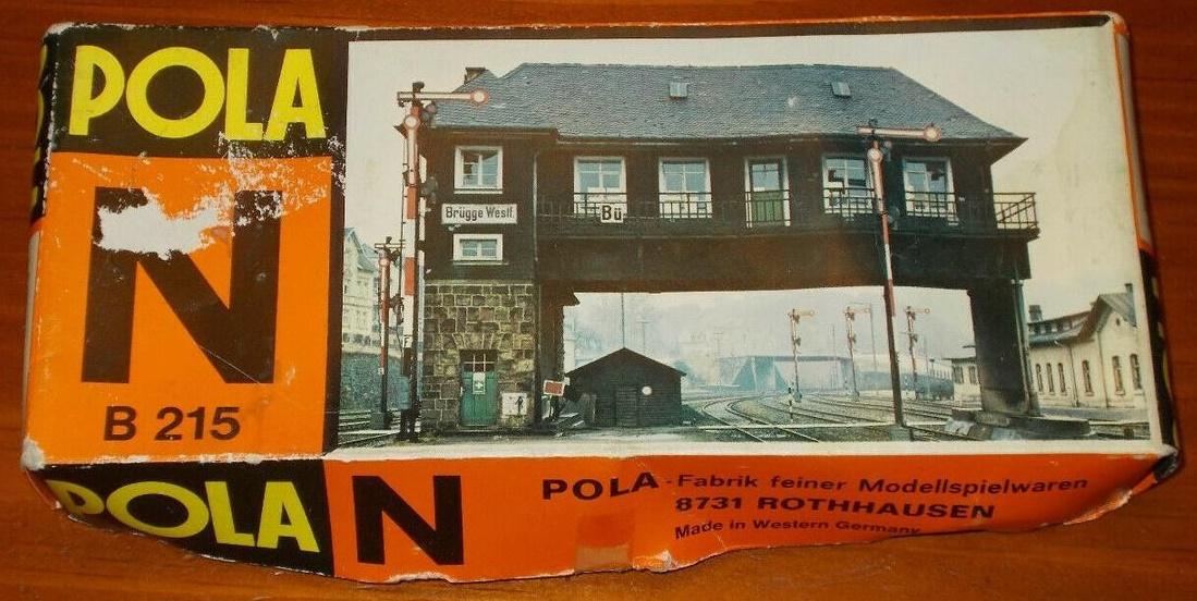 N Scale - Pola - 215 - Bridge - Railroad Structures - Overhead Signal Box