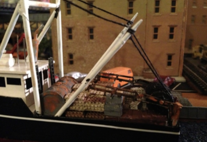 N Scale - Showcase Miniatures - 51 - Accessories, Detail Parts, Crane - Undecorated - Material Handling Crane