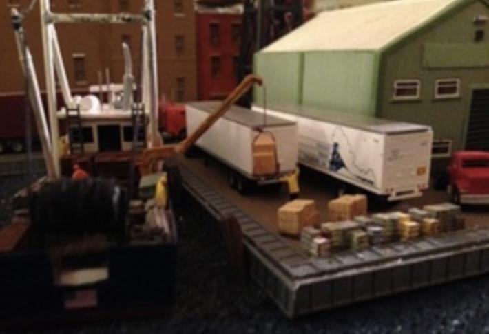 N Scale - Showcase Miniatures - 52 - Accessories, Detail Parts, Crane - Undecorated - Knuckleboom Crane