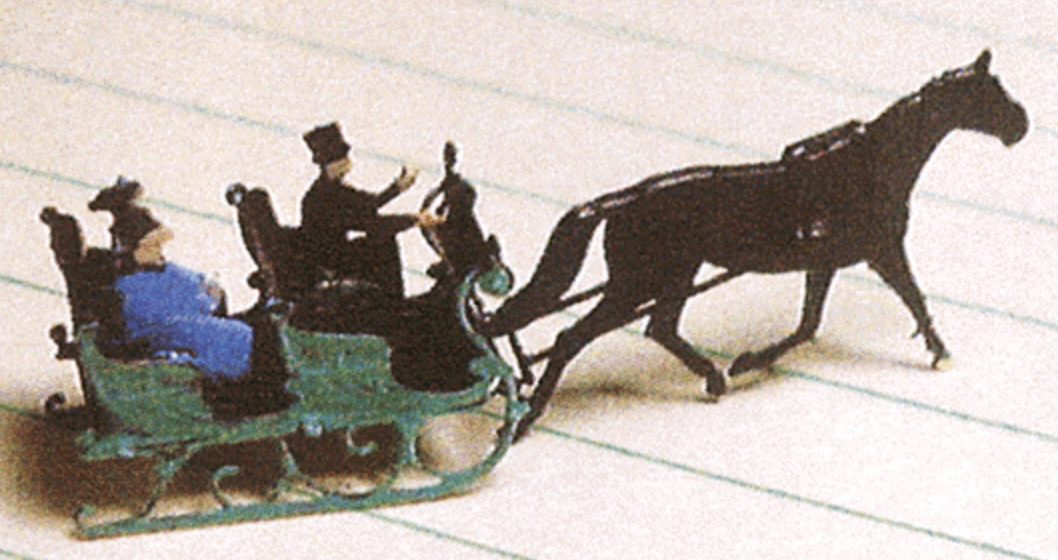 N Scale - Micron Art - N2069 - Vehicle, Horse-Drawn, Sleigh - Undecorated