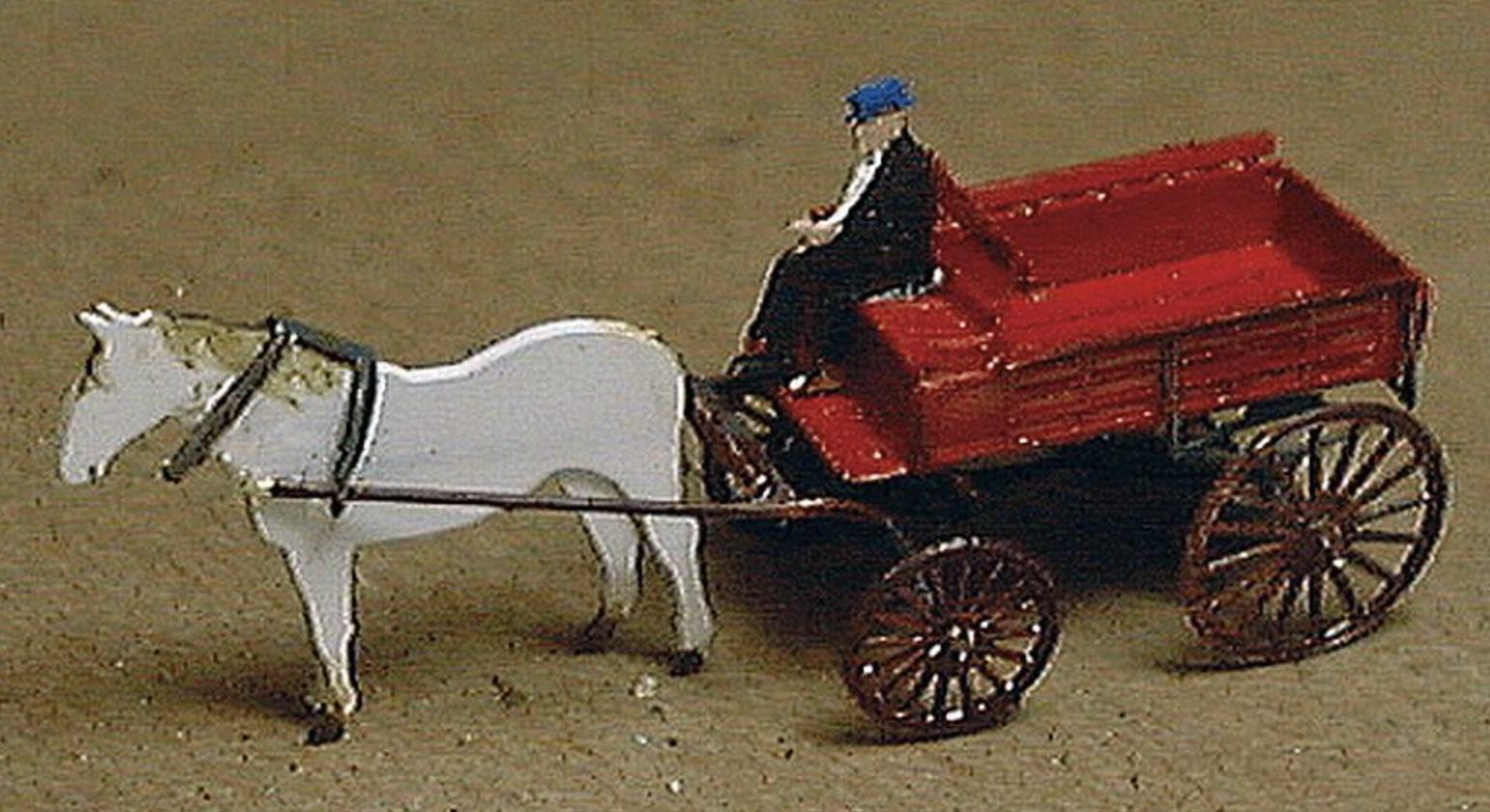 N Scale - Micron Art - N2073 - Vehicle, Horse-Drawn, Wagon - Undecorated