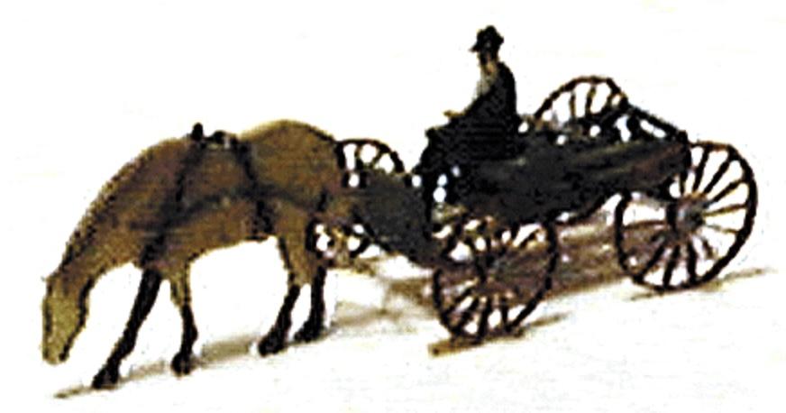 N Scale - Micron Art - N2023 - Vehicle, Horse-Drawn, Wagon - Undecorated - 2-Pack