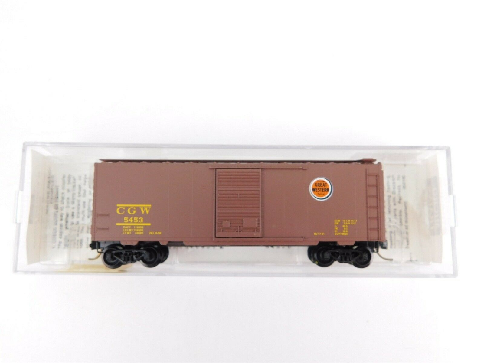 N Scale - Micro-Trains - 20046 - Boxcar, 40 Foot, PS-1 - Chicago Great Western - 5453