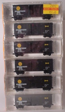 N Scale - Micro-Trains - 20092 - Boxcar, 40 Foot, PS-1 - Southern Pacific - 6-Pack