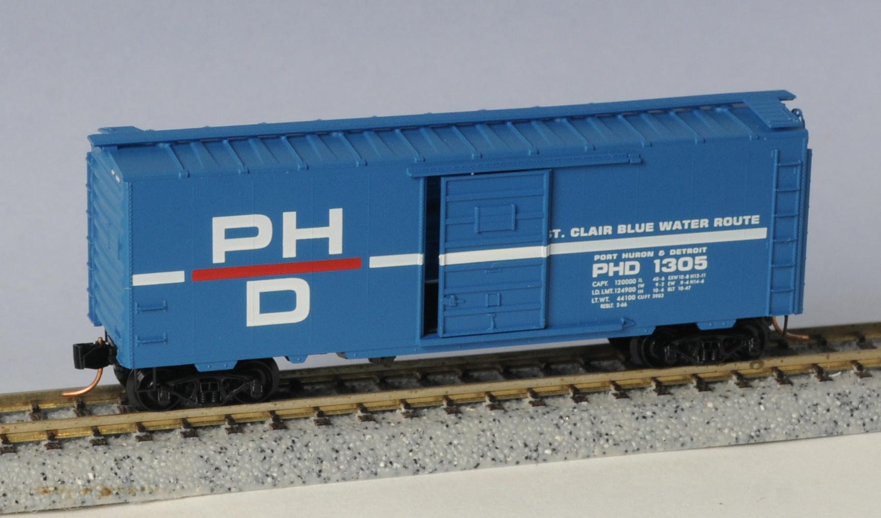 N Scale - Micro-Trains - 20150 - Boxcar, 40 Foot, PS-1 - Port Huron & Detroit - 1305